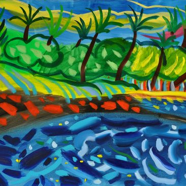 Hilo Botanical Garden, Big Island of Hawaii, Oil on Canvas, 72×99.5cm. 2017