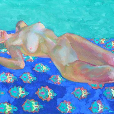 Reclining Female Model, Oil on Canvas, 80x100cm. 2016