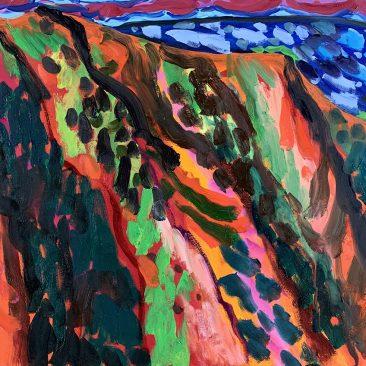Waimea Canyon, Kauai, Hawaii, Acrilyc and Oil on Canvas, 70x105cm. 2016